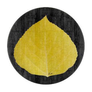 Yellow Aspen Leaf #5 Cutting Board
