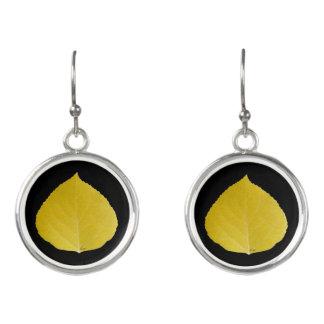 Yellow Aspen Leaf #5 Earrings