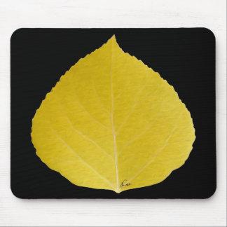 Yellow Aspen Leaf #5 Mouse Mat