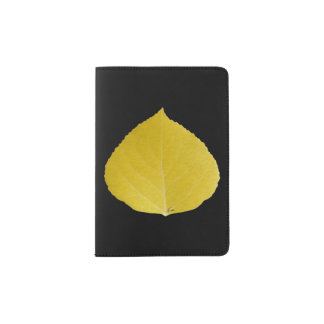 Yellow Aspen Leaf #5 Passport Holder