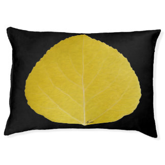 Yellow Aspen Leaf #5 Pet Bed