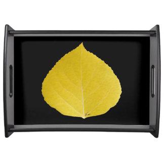 Yellow Aspen Leaf #5 Serving Tray