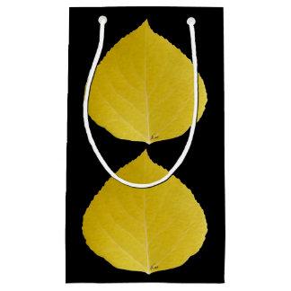 Yellow Aspen Leaf #5 Small Gift Bag