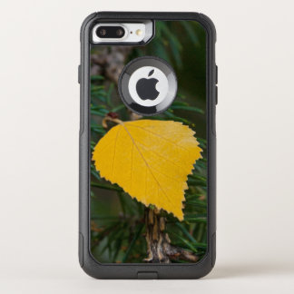 Yellow Aspen Leave on Evergreen Branch Photograph OtterBox Commuter iPhone 7 Plus Case