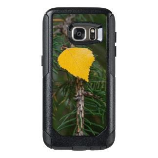 Yellow Aspen Leave on Evergreen Branch Photograph OtterBox Samsung Galaxy S7 Case
