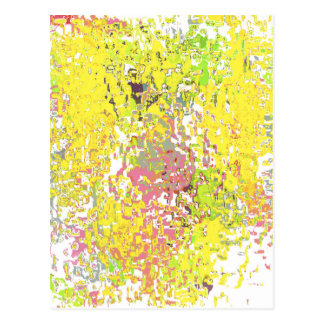 Yellow Astract Design Postcard