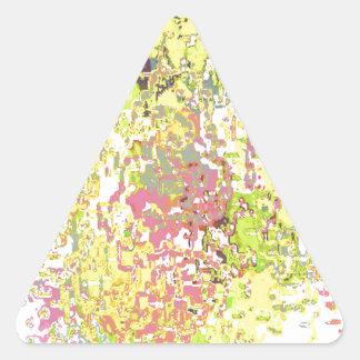 Yellow Astract Design Triangle Sticker