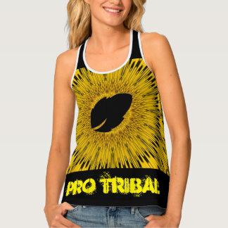 Yellow Athletic Pro Tribal Racerback Tank Top