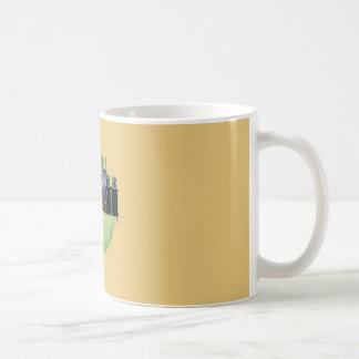Yellow atlanta skyline cub coffee mug
