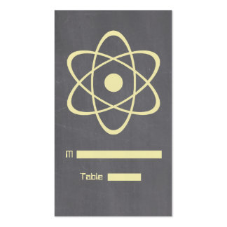 Yellow Atomic Chalkboard Place Card Pack Of Standard Business Cards