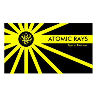 Yellow Atomic Rays Pack Of Standard Business Cards