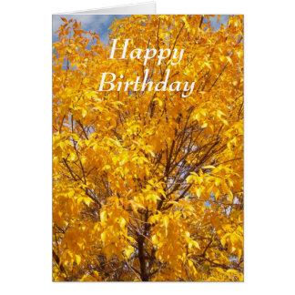 Yellow Autumn Glory - Customized Greeting Card