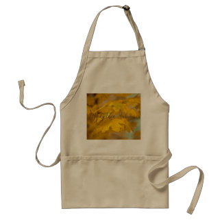 Yellow autumn maple leaves. Add you text. Standard Apron