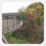 Yellow autumn square sticker