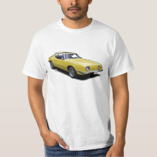 Yellow AvanTee Classic American Car T-Shirt