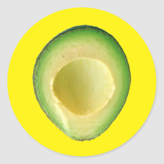Yellow Avocado Fiesta 4Harvey Classic Round Sticker