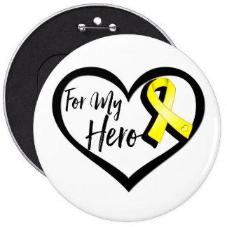 Yellow Awareness Ribbon For My Hero 6 Cm Round Badge