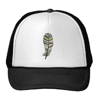 Yellow Aztec Feather Trucker Hat