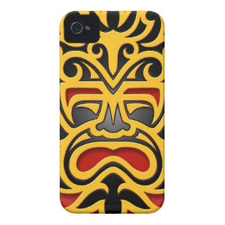 Yellow Aztec Mask Blackberry Bold Covers