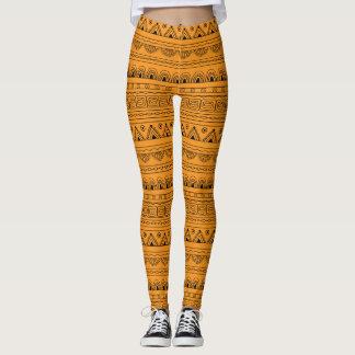 yellow aztec pattern leggings