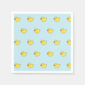 Yellow Baby Ducks Duckies Shower Party Napkins Disposable Napkins
