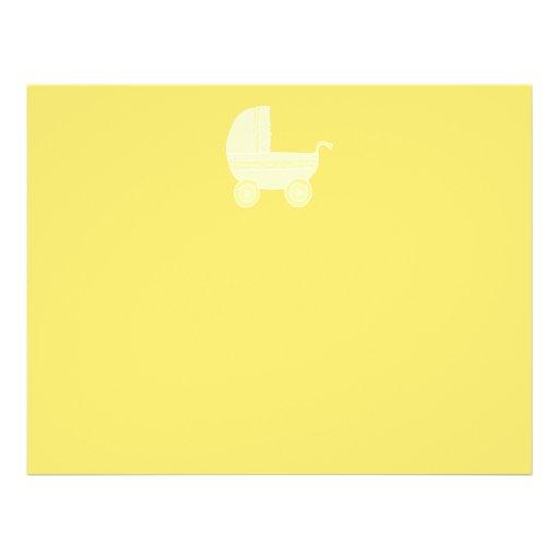 Yellow Baby Stroller. Custom Flyer