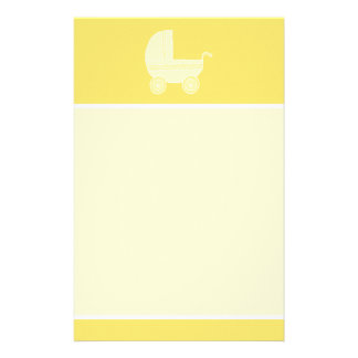 Yellow Baby Stroller. Stationery