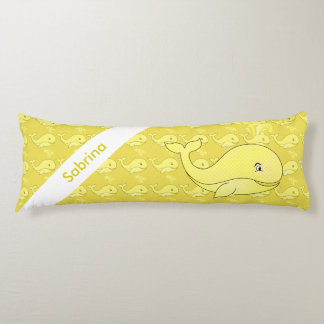 Yellow Baby Whale   Personalize Body Pillow