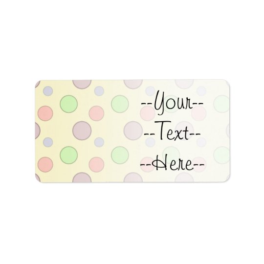 Yellow Background Bubbles Pattern Label