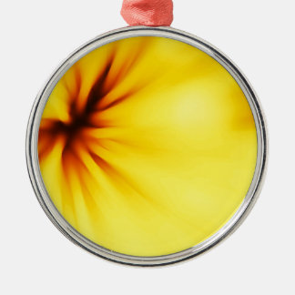 Yellow background christmas ornament