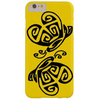 Yellow background for inverted butterfly design barely there iPhone 6 plus case