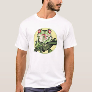 Yellow Background Tree Frog T-Shirt