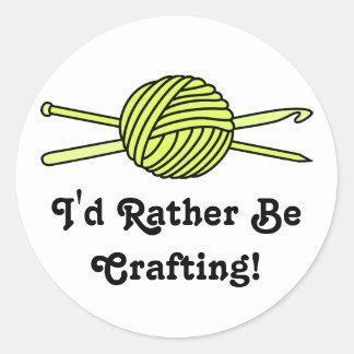 Yellow Ball of Yarn (Knit & Crochet) Stickers