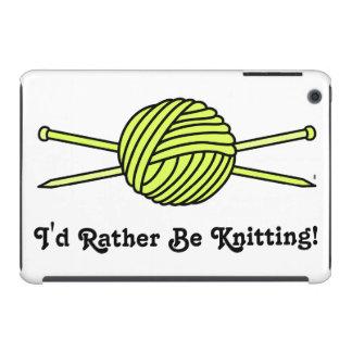 Yellow Ball of Yarn & Knitting Needles iPad Mini Cases