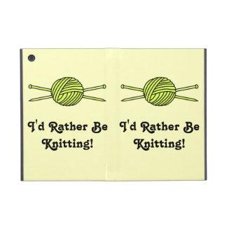 Yellow Ball of Yarn & Knitting Needles Covers For iPad Mini