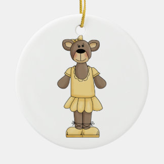 Yellow Ballerina Bear Holiday Ornament