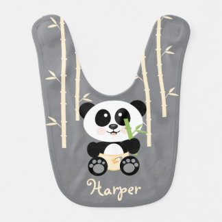 YELLOW BAMBOO PANDA IN DIAPERS BIBS
