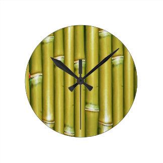 Yellow Bamboo Wall Clock