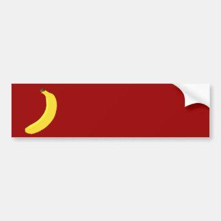Yellow Banana fruit Bumper Sticker