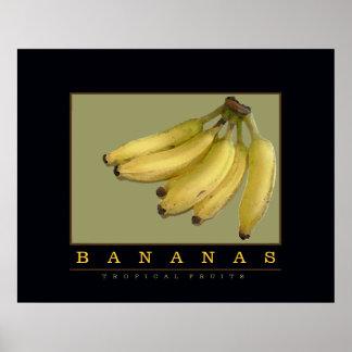 yellow banana fruit decor poster