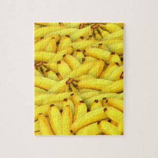 Yellow Bananas fruit pattern Jigsaw Puzzle