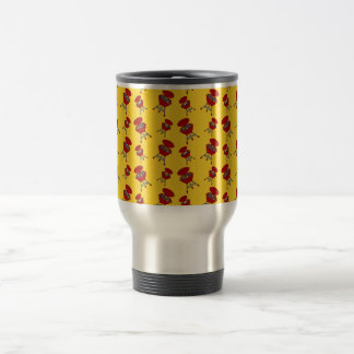 yellow barbeque pattern mugs