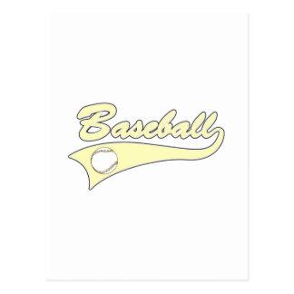 Yellow Baseball Logo Postcard