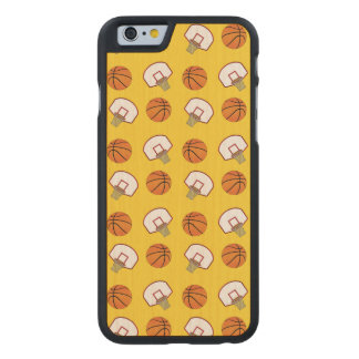 Yellow basketballs and nets carved® maple iPhone 6 slim case