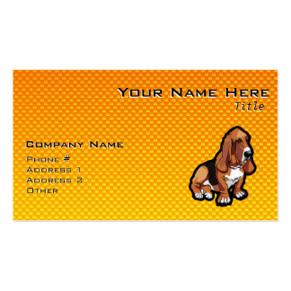 Yellow Basset Hound Double-Sided Standard Business Cards (Pack Of 100)