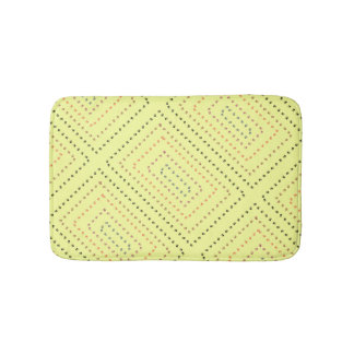 Yellow bathroom mat