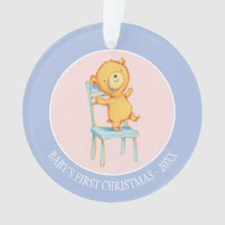 Yellow Bear Dances and Plays on Chair