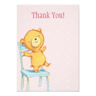 Yellow Bear Thank You 13 Cm X 18 Cm Invitation Card
