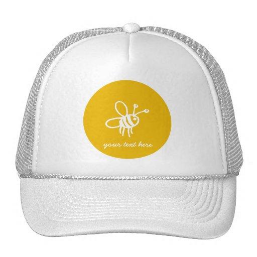 Yellow Bee Cap Trucker Hats
