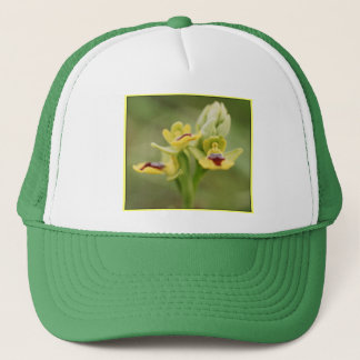 Yellow bee orchids trucker hat
